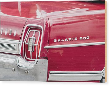Wood Print featuring the photograph Ford Galaxie  by Dawn Romine