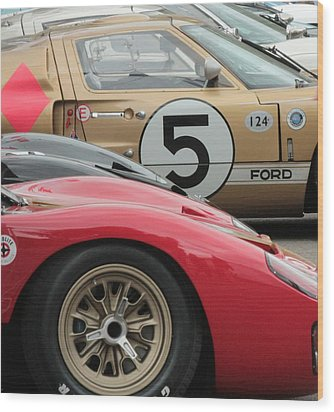 Ford Gt 40's Wood Print