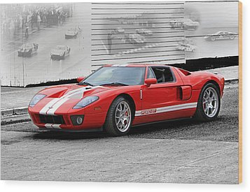 Ford Gt And Gt40 Memories Wood Print by Christopher McKenzie