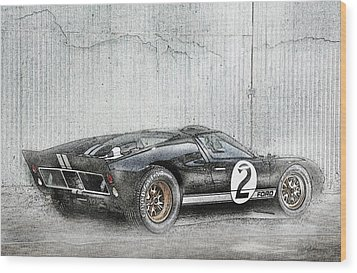 Ford Gt40 Wood Print by Peter Chilelli