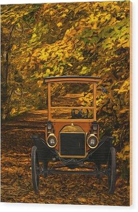 Ford Wood Print by Jack Zulli
