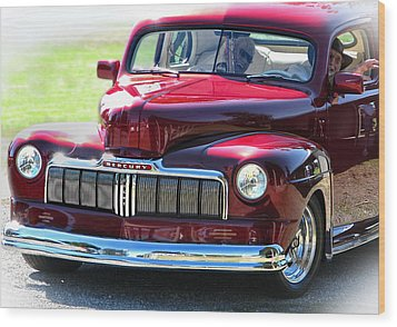 Ford Mercury Eight Wood Print by Rory Sagner