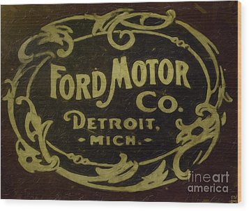 Ford Motor Company Wood Print by David Millenheft