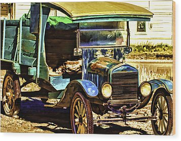 Wood Print featuring the painting Ford by Muhie Kanawati