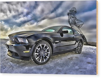 Ford Mustang - Featured In Vehicle Eenthusiast Group Wood Print by EricaMaxine  Price
