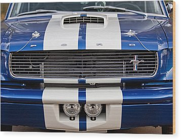 Ford Mustang Grille Emblem Wood Print by Jill Reger