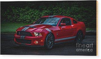 Ford Mustang Gt 500 Cobra Wood Print