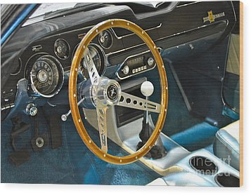Ford Mustang Shelby Wood Print