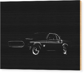 Ford Mustang  Wood Print by Steve K