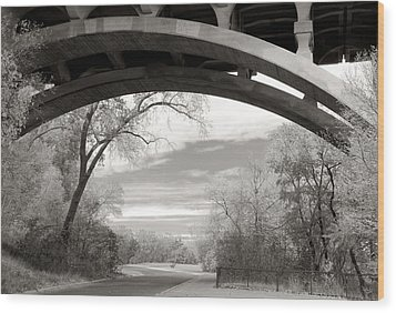 Ford Parkway Bridge Over West River Road In Minneapolis Wood Print