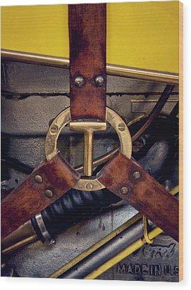 Ford T Hood Strap Wood Print by Odd Jeppesen