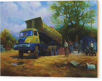 Ford Thames Trader Wood Print by Mike  Jeffries
