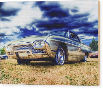 Ford Thunderbird Hdr Wood Print by Phil 'motography' Clark