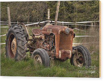 Ford Tractor Wood Print by Alana Ranney