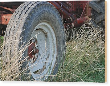 Wood Print featuring the photograph Ford Tractor Tire by Jennifer Ancker