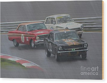 Ford Trio Wood Print by Roger Lighterness