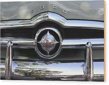 Ford V8 1949 - Vintage Wood Print by The Art of Alice Terrill