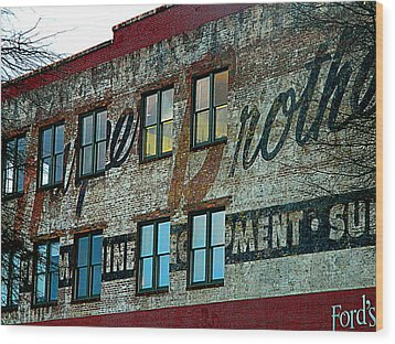 Fords Restaurant In Greenville Sc Wood Print