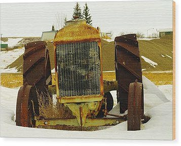 Fordson Tractor Plentywood Montana Wood Print by Jeff Swan