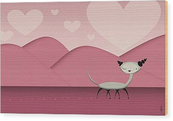 Foreign Love Wood Print by Kate Paulos
