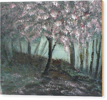 Wood Print featuring the painting Forest Beauty by J L Zarek