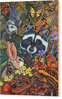 Forest Fantasy Wood Print by Sherry Dole