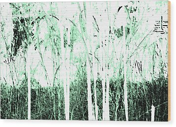 Forest For The Trees Wood Print by Lenore Senior