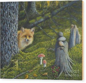 Forest Life Wood Print by Veikko Suikkanen