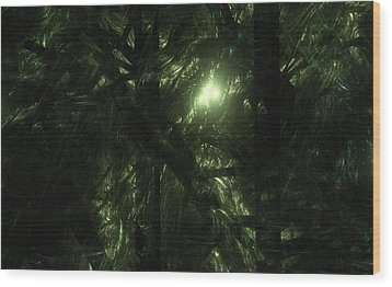 Wood Print featuring the digital art Forest Light by GJ Blackman