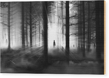 Wood Print featuring the photograph Forest... by Mariusz Zawadzki
