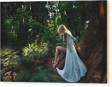 Forest Nymph 2 Wood Print by Dario Infini