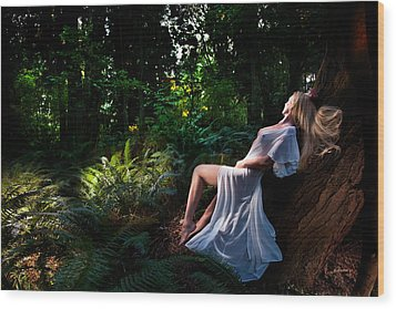 Forest Nymph 3 Wood Print by Dario Infini