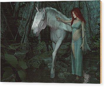 Forest Of Enchantments Wood Print by Maynard Ellis