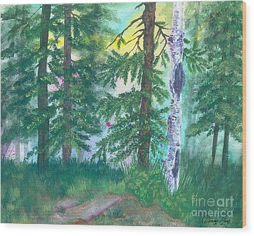 Forest Of Memories Wood Print by Denise Hoag