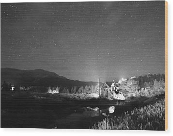 Forest Of Stars Above The Chapel On The Rock Bw Wood Print by James BO  Insogna