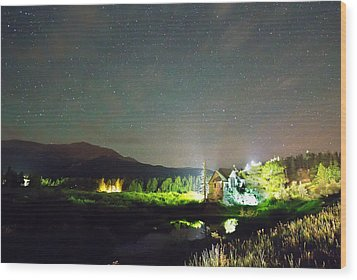 Forest Of Stars Above The Chapel On The Rock Wood Print by James BO  Insogna