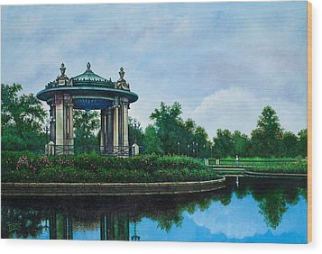 Forest Park Muny Bandstand II Wood Print by Michael Frank