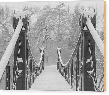 Forest Park Victorian Footbridge Wood Print by Scott Rackers