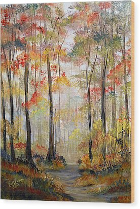 Forest Path Wood Print by Dorothy Maier