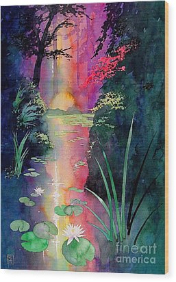 Forest Pond Wood Print