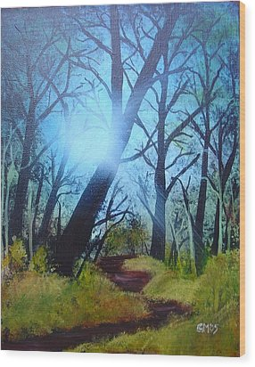 Forest Sunlight Wood Print by Charles and Melisa Morrison