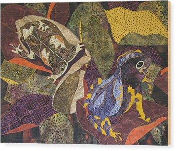 Forest Toads Wood Print by Lynda K Boardman