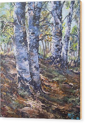 Forest Walk Wood Print by Megan Walsh
