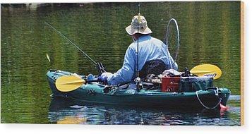 Forever Fishing Wood Print by Pamela Blizzard