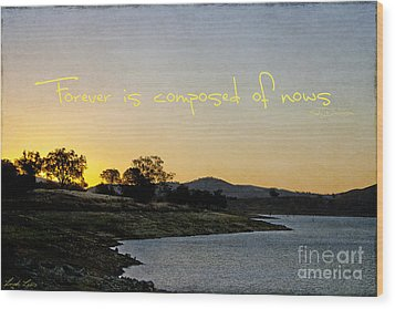 Forever Is Composed Of Nows Wood Print by Linda Lees