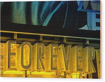 Forever Wood Print by Karol Livote
