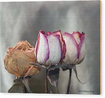 Wood Print featuring the photograph Forever Roses by Penny Hunt