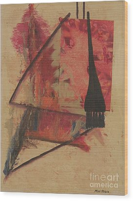 Wood Print featuring the painting Forgive My Tears by Mini Arora