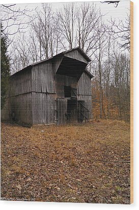 Wood Print featuring the photograph Forgotten Barn by Nick Kirby