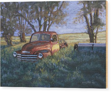 Forgotten But Still Good Wood Print by Jerry McElroy
